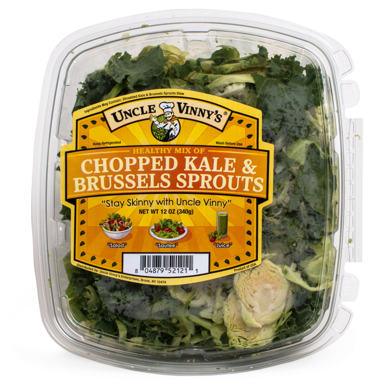 Chopped Kale & Brussels Sprouts