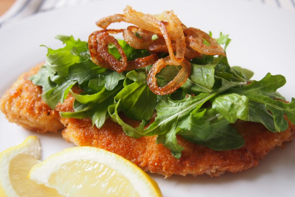 Crunchy Parmesan Chicken With Arugula