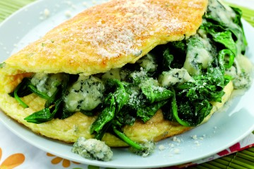 Souffleed Spinach Omelette